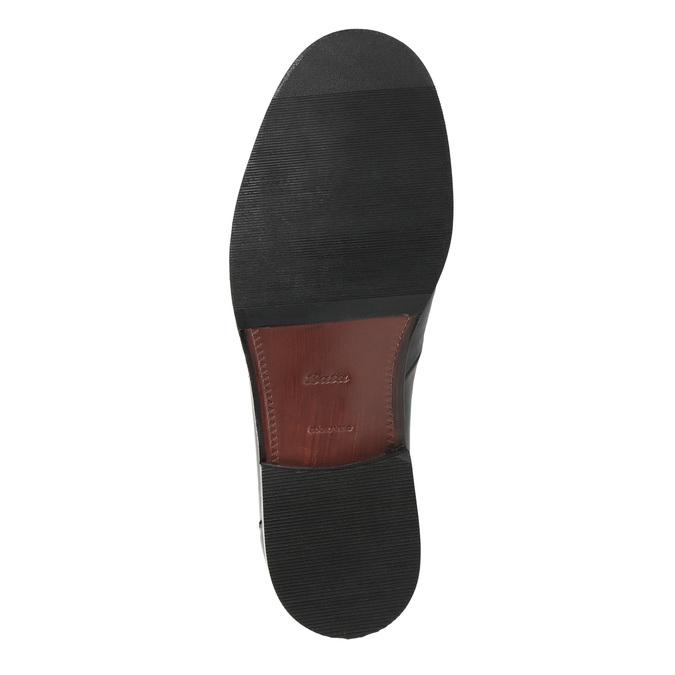 Pánské polobotky s prošitím bata, černá, 824-6838 - 26