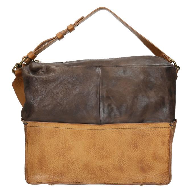 Kožená kabelka s masivním popruhem a-s-98, hnědá, 966-4038 - 26