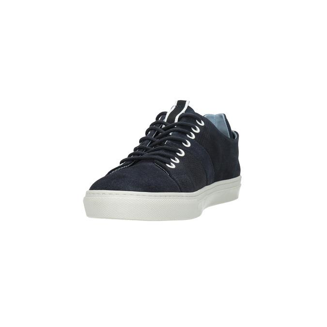 Kožené tenisky s perforací bata, modrá, 843-9621 - 18