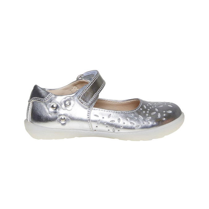 Stříbrné dětské baleríny mini-b, stříbrná, 221-2169 - 15