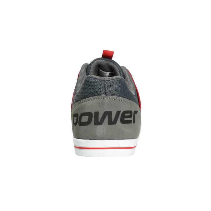 Pánské tenisky z broušené kůže power, šedá, 803-2160 - 17