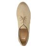 Kožené polobotky s perforací bata, béžová, 526-8619 - 19