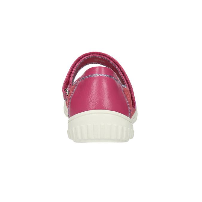 Dětské baleríny s páskem přes nárt mini-b, růžová, 329-5605 - 17