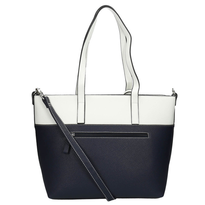 Dvoubarevná Shopper kabelka gabor-bags, modrá, 961-9087 - 19
