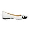 Kožené dámské baleríny bata, bílá, 524-1602 - 15