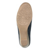 Dámské kožené mokasíny šíře H bata, modrá, 523-9603 - 26