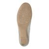 Dámské kožené mokasíny šíře H bata, šedá, 523-2603 - 26