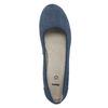 Kožené lodičky šíře H bata, modrá, 623-9602 - 19