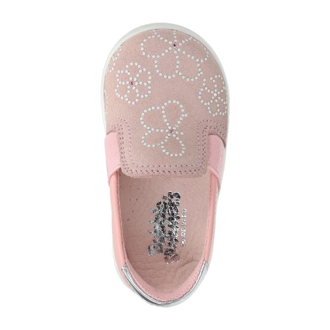 Dětská kožená Slip-on obuv bubblegummers, růžová, 123-5600 - 19
