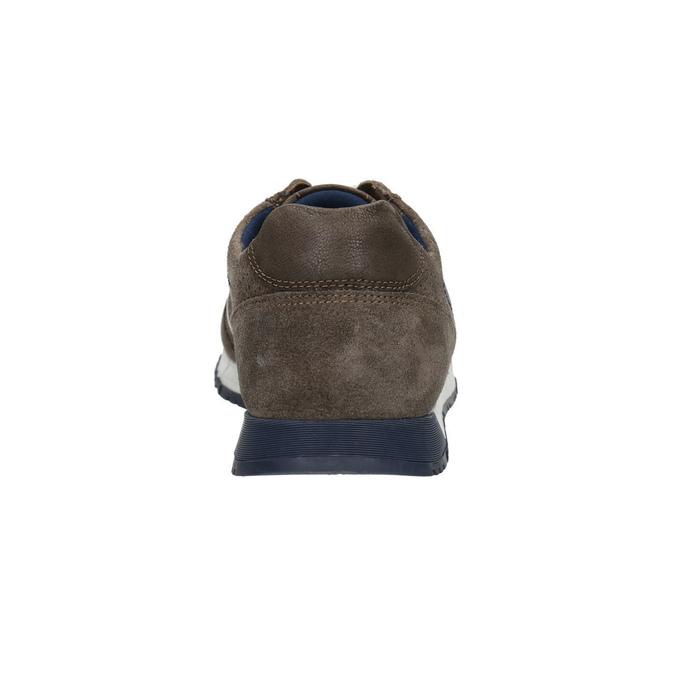 Pánské kožené tenisky bata, hnědá, 843-4624 - 17