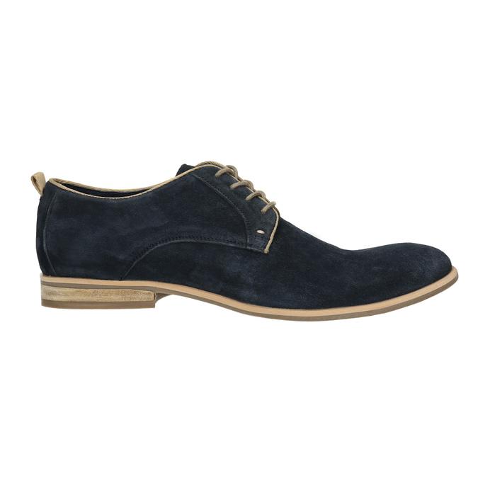 Polobotky z broušené kůže bata, modrá, 823-9602 - 15