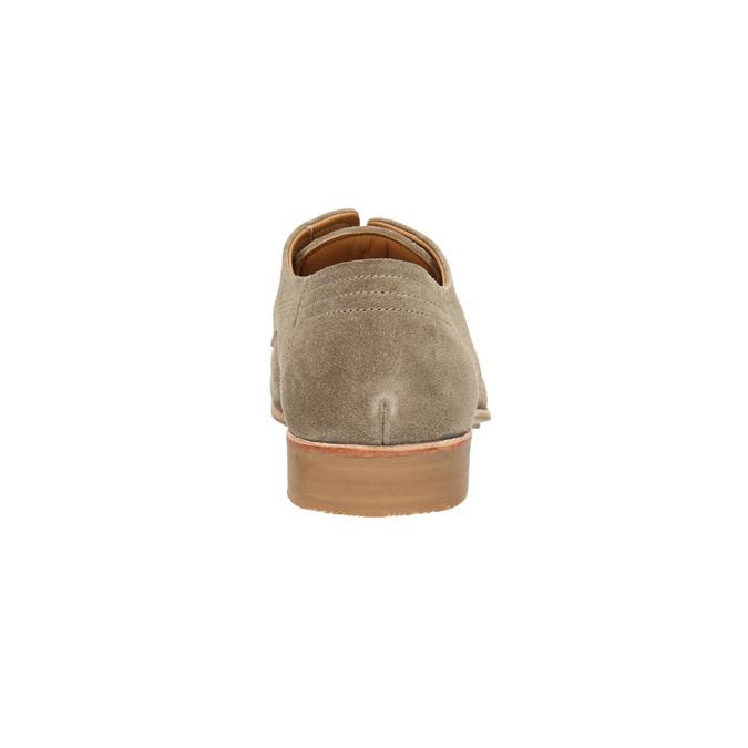 Pánské polobotky z broušené kůže bata, hnědá, 823-8601 - 17