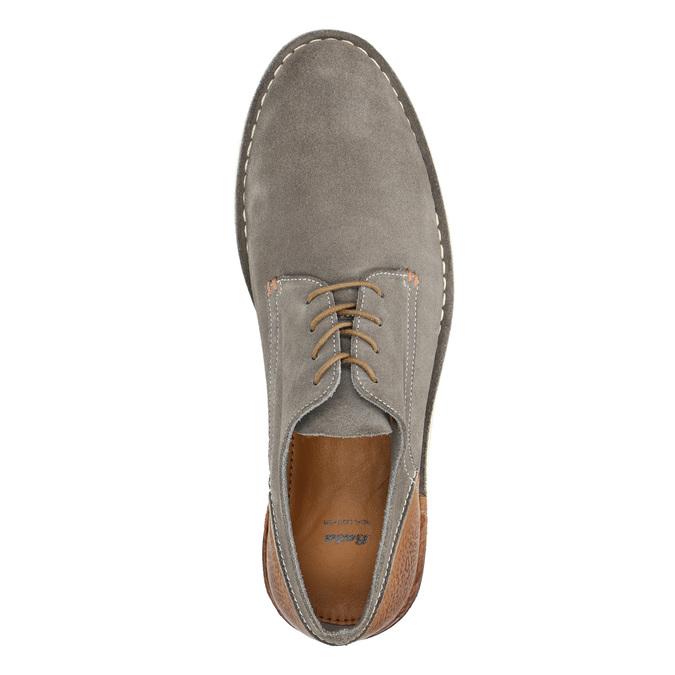 Kožené polobotky na ležérní podešvi bata, šedá, 823-2604 - 19