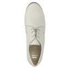 Dámské kožené polobotky bata, bílá, 526-1635 - 19