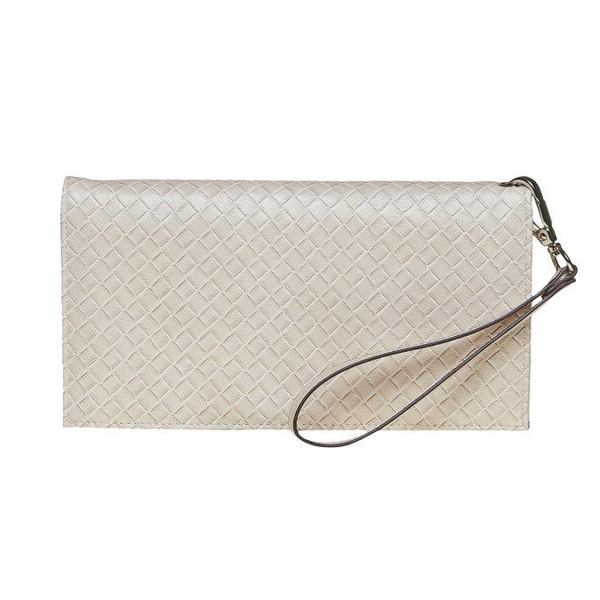 Krémová dámská peněženka s poutkem bata, béžová, 941-8148 - 26