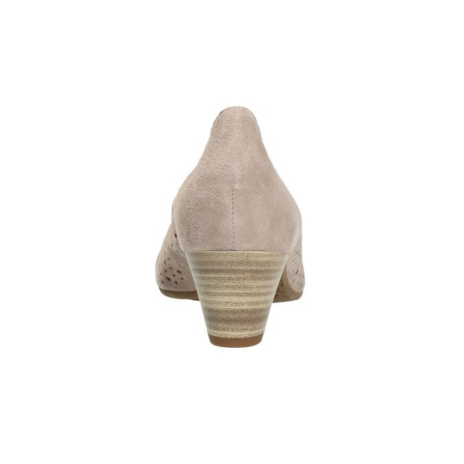 Kožené lodičky šíře H gabor, růžová, 623-5201 - 17