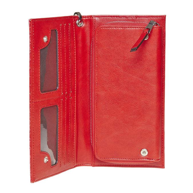 Červená peněženka s poutkem bata, červená, 941-5148 - 17