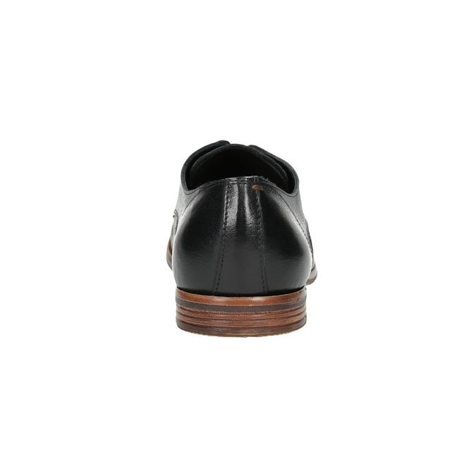 Kožené pánské polobotky černé bata, černá, 824-6907 - 17