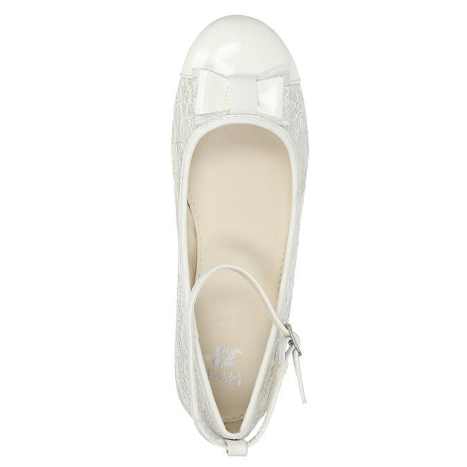 Dívčí baleríny s krajkou mini-b, bílá, 329-1250 - 19
