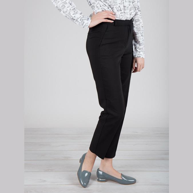 Kožená dámská obuv ve stylu Loafers bata, modrá, 518-9600 - 18