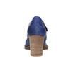 Kožené lodičky s páskem přes nárt bata, modrá, 626-9641 - 17