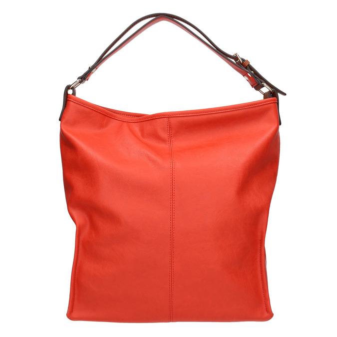 Červená kabelka s dvojitým uchem bata, červená, 961-5707 - 19