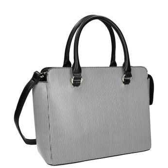 Pruhovaná kabelka bata, černá, 961-6747 - 13
