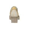 Kožené sandály na klínku bata, šedá, 626-2642 - 17
