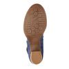 Kožené lodičky s páskem přes nárt bata, modrá, 626-9641 - 26