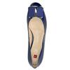Kožené lodičky s mašlí hogl, modrá, 628-9400 - 19