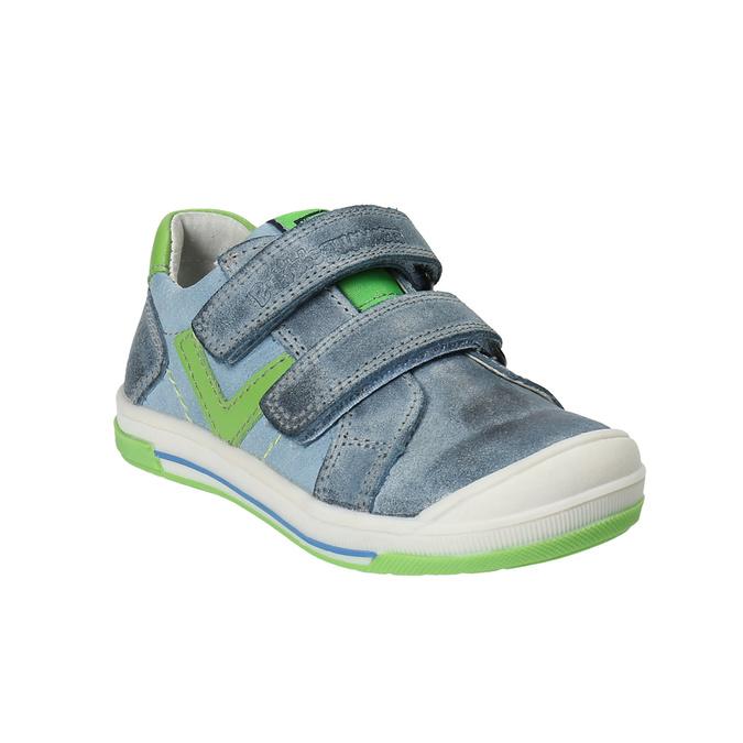 Dětská kožená obuv na suché zipy bubblegummers, šedá, 116-2600 - 13