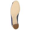 Kožené lodičky s mašlí hogl, modrá, 628-9400 - 26