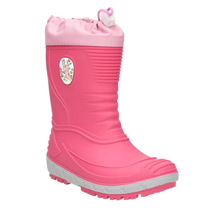 Dívčí holínky s výraznou podešví mini-b, růžová, 392-5111 - 13