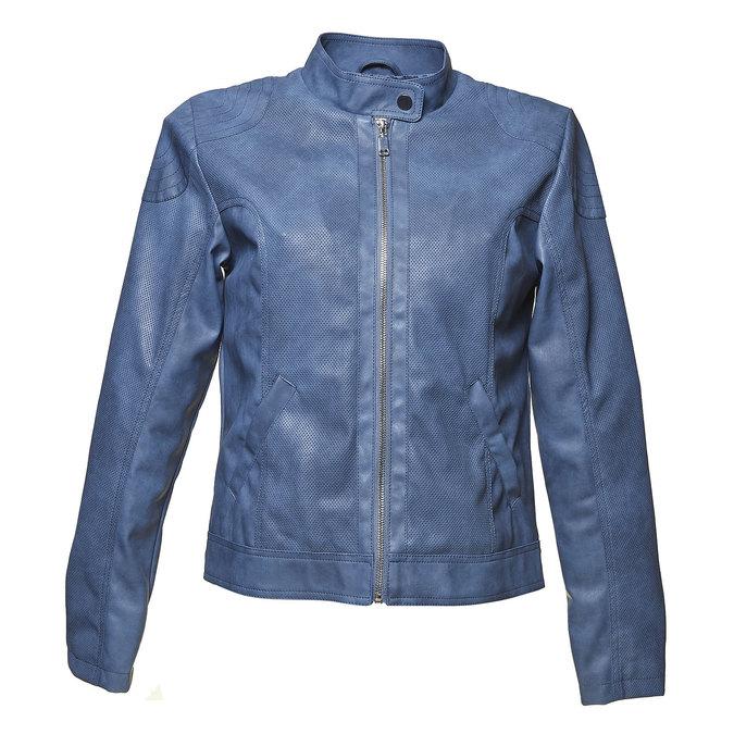 Modrá dámská bunda s perforací bata, modrá, 971-9113 - 13