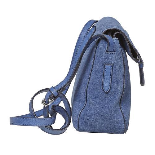 Modrá kožená Crossbody kabelka bata, modrá, 963-9127 - 17