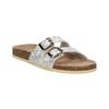 Dámská domácí obuv de-fonseca, šedá, 571-2600 - 13