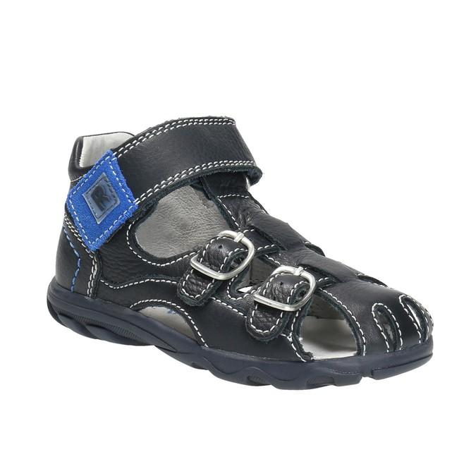 Kožené chlapecké sandály richter, modrá, 114-9019 - 13