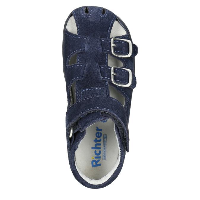Kožené chlapecké sandály richter, modrá, 113-9024 - 19