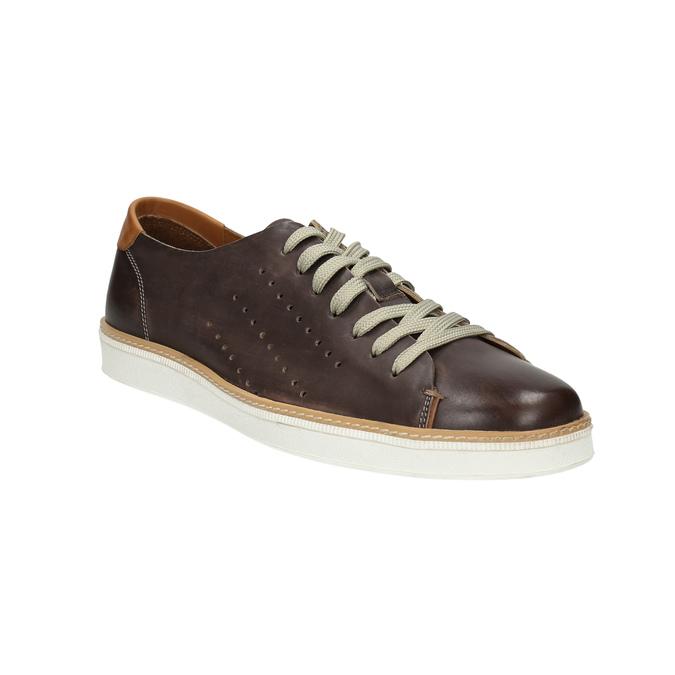 Hnědé kožené tenisky bata, hnědá, 846-4618 - 13