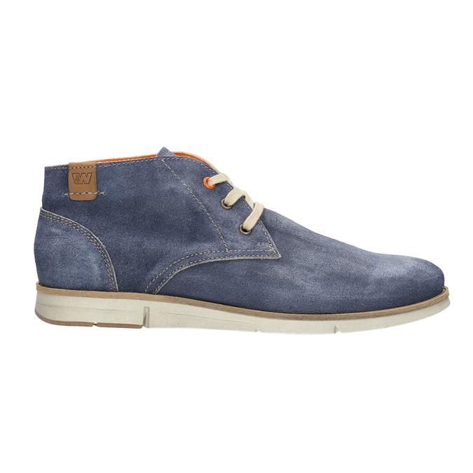 Kotníčková obuv z broušené kůže weinbrenner, modrá, 843-9625 - 15