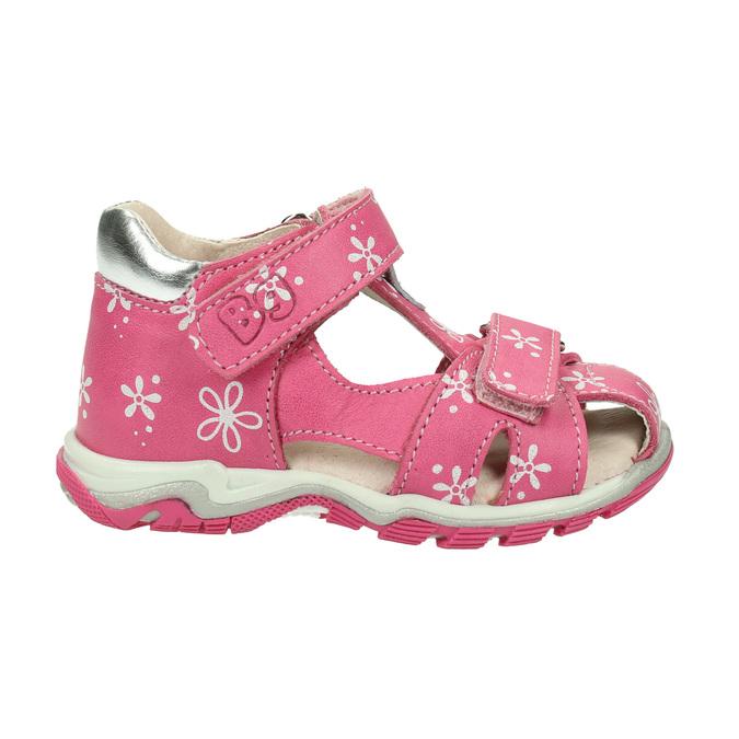 Dívčí kožené sandály bubblegummers, růžová, 166-5600 - 15