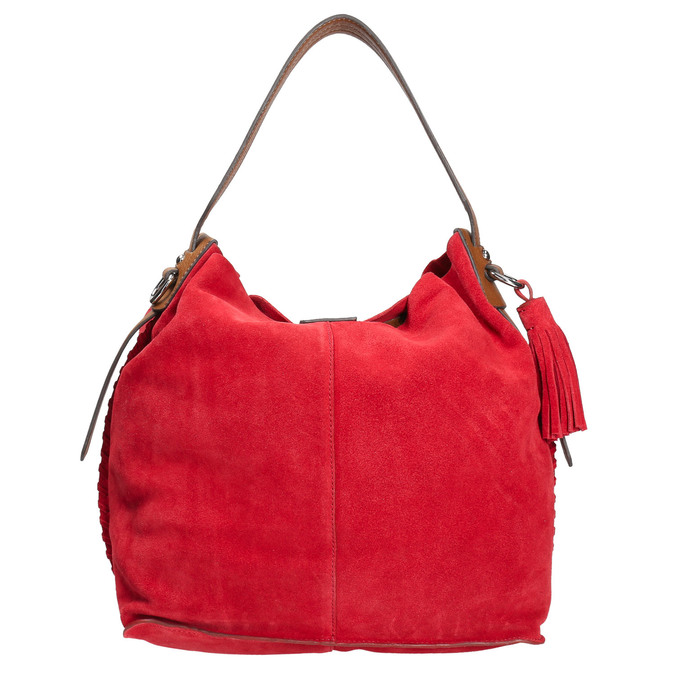Červená kožená kabelka bata, červená, 963-5103 - 26