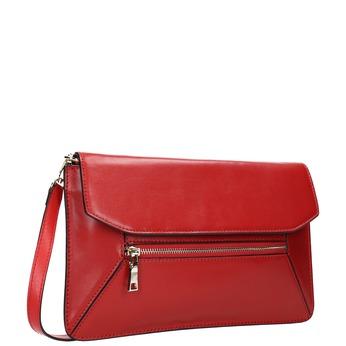 Červené kožené psaníčko bata, červená, 964-5219 - 13