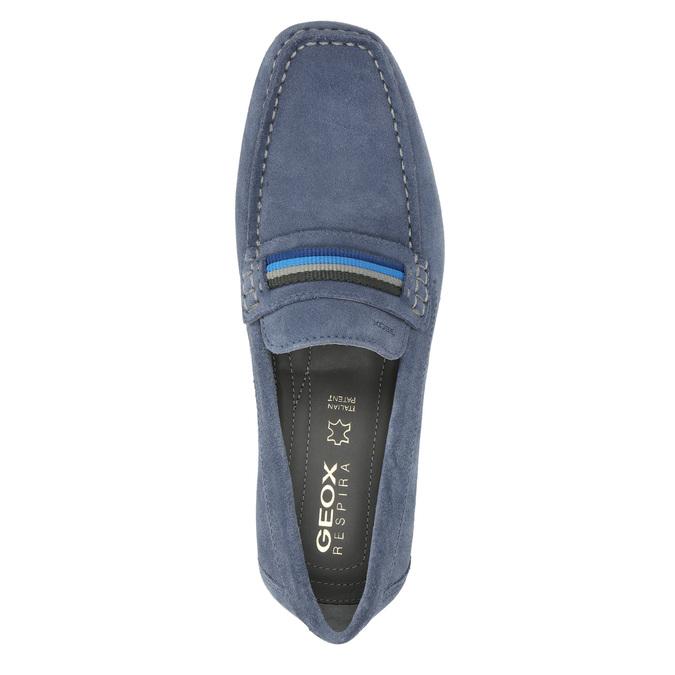 Mokasíny z broušené kůže geox, modrá, 813-9016 - 19