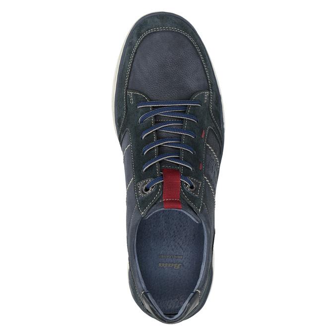 Ležérní tenisky z broušené kůže bata, modrá, 846-9639 - 17