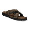 Kožené pánské letní nazouváky bata, hnědá, 866-4612 - 13