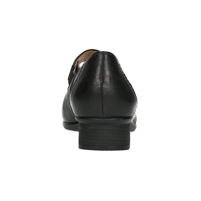 Kožené lodičky s prošíváním gabor, černá, 614-6021 - 17