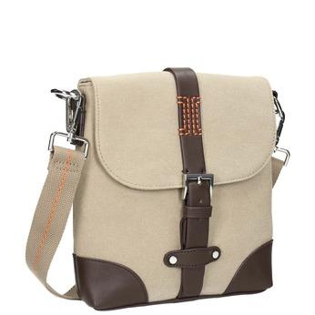 Pánská taška ve stylu Crossbody bata, béžová, 969-8284 - 13