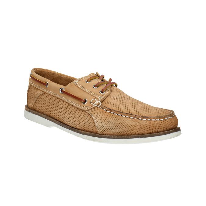 Kožené Boat Shoes bata, hnědá, 856-3604 - 13