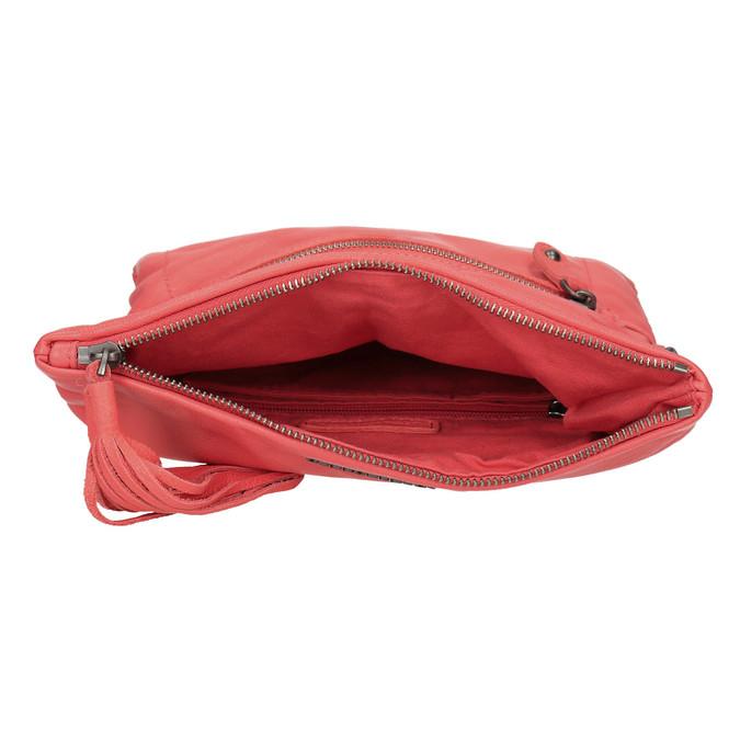 Kožená dámská Crossbody kabelka fredsbruder, červená, 964-5037 - 15